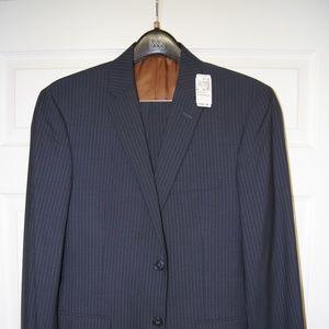 Jos. A. Bank Blue Stripe Slim Fit Suit - 40R